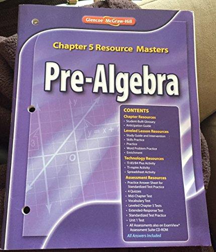 9780078904868: Glencoe Pre-Algebra Chapter 5 Resource Masters