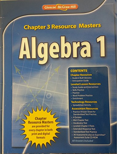 9780078904974: Glencoe Algebra 1 2008 Chapter 3 Resource Masters