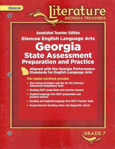 9780078907906: Glencoe Literature Georgia Treasures (Annotated Teacher Edition) Glencoe English Language Arts: Georgia State Assessment Preparation and Practice (Grade 7) [2008]