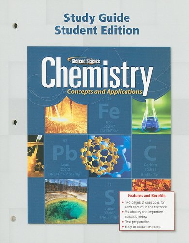 9780078908002: Chemistry: Concepts & Applications, Study Guide, Student Edition (Glencoe Science)