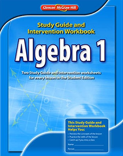 9780078908354 algebra 1 study guide and intervention workbook abebooks glencoe mcgraw hill. Black Bedroom Furniture Sets. Home Design Ideas