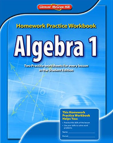 9780078908361: Algebra 1 Homework Practice Workbook