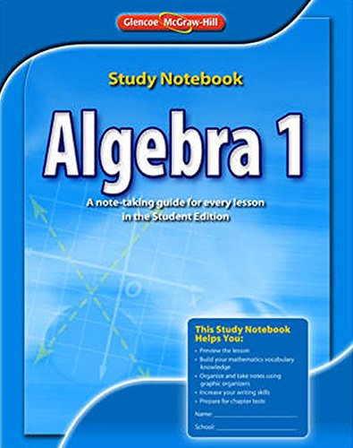 9780078908446: Algebra 1, Study Notebook