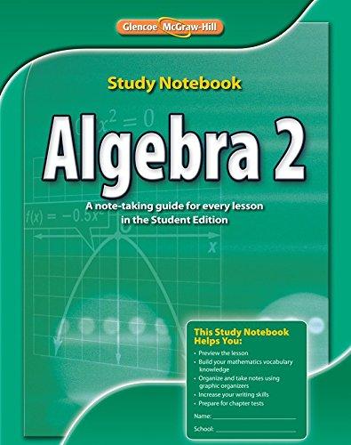 Algebra 2, Study Notebook (MERRILL ALGEBRA 2): Education, McGraw-Hill