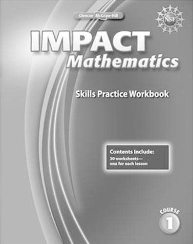 9780078911668: IMPACT Mathematics, Course 1, Skills Practice Workbook