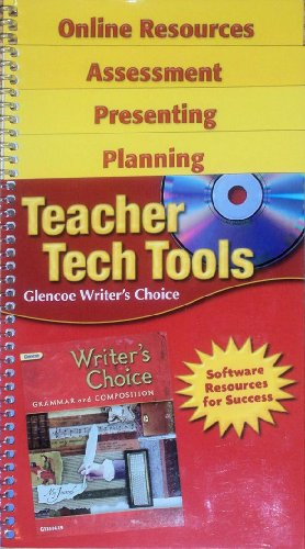 9780078913389: Teacher Tech Tools for Glencoe Writer's Choice, 7th Grade - Software Resources for Success - Include