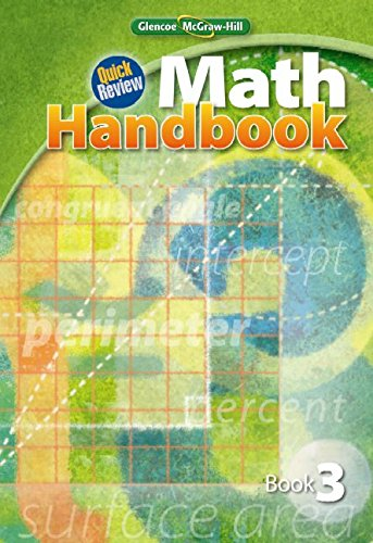 9780078915086: Quick Review Math Handbook, Book 3, Student Edition (MATH APPLIC & CONN CRSE)