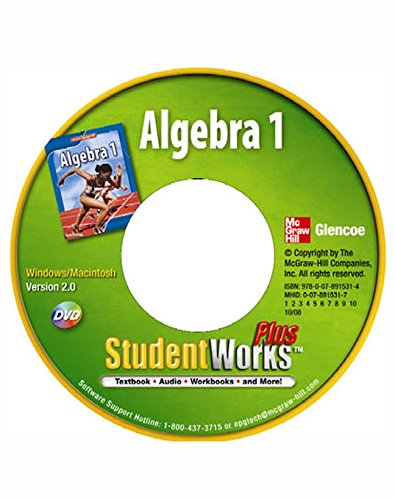 9780078915314: Algebra 1, StudentWorks Plus DVD
