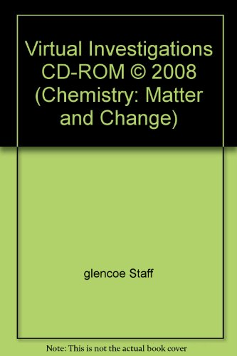 9780078916175: Virtual Investigations CD-ROM © 2008 (Chemistry: Matter and Change)