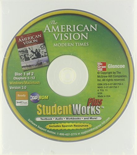 9780078917585: The American Vision: Modern Times, StudentWorks Plus CD-ROM
