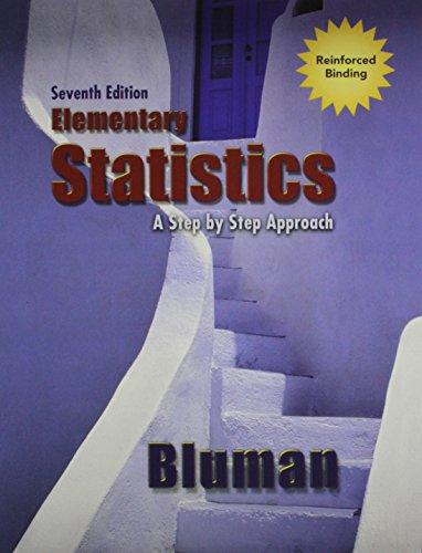 Elementary Statistics A Step by Step Approach: Bluman