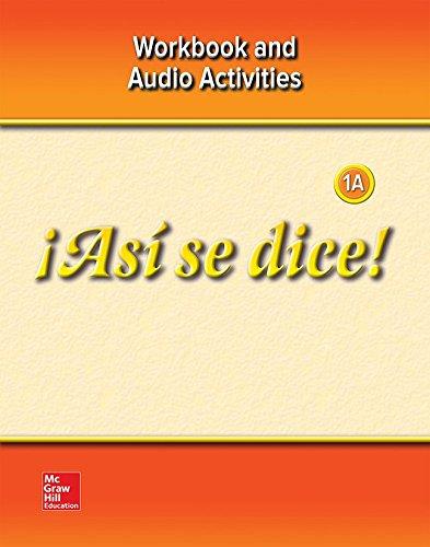 9780078929342: ¡Así se dice! Level 1A,  Workbook and Audio Activities