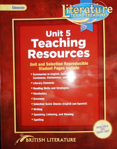 9780078931710: Glencoe Literature Texas Treasures, British Literature, Unit 5 Teaching Resources