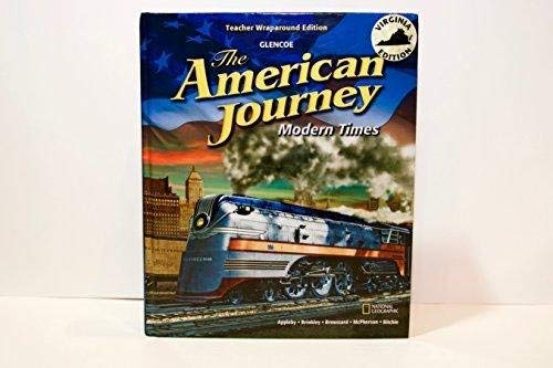 9780078933707: The American Journey: Modern Times, Teacher Wraparound Edition, Virginia Edition