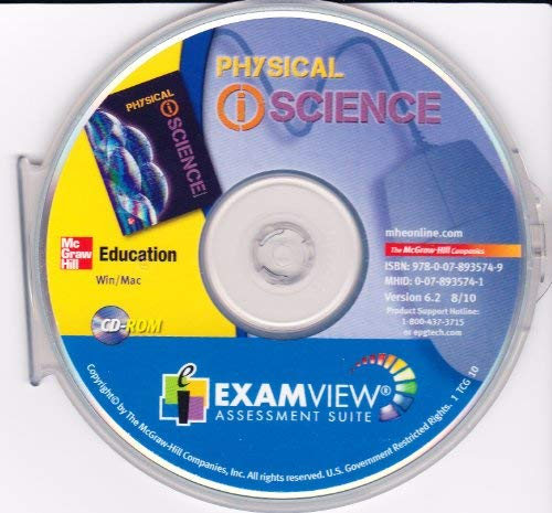 9780078935749: McGraw Hill Physical (i) Science Exam View Assessment Suite (Win/Mac CD-ROM)