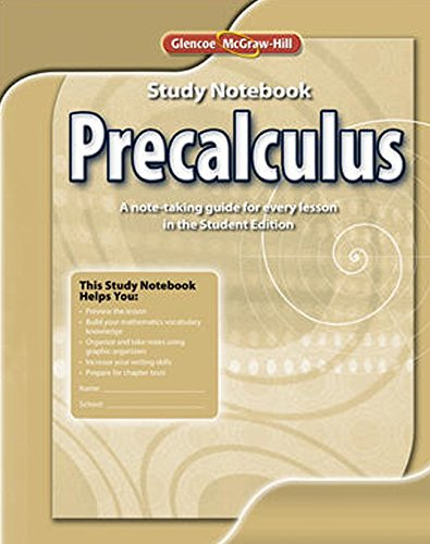9780078938146: Precalculus, Study Notebook (ADVANCED MATH CONCEPTS)
