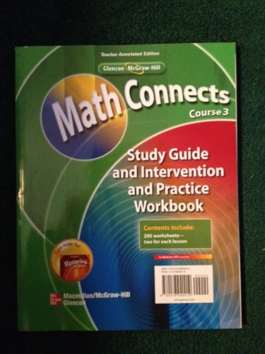 9780078940019: Math Connects Course 3 Teacher Annotated Edition/Mastering the ISTEP Grade 8