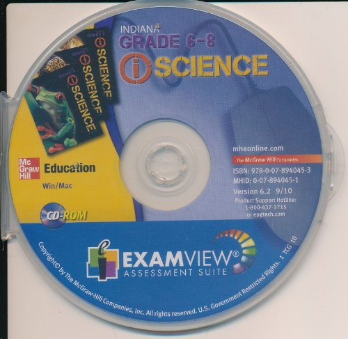 9780078940453: Science Indiana Garde 6-8 ExamView Assessment Suite
