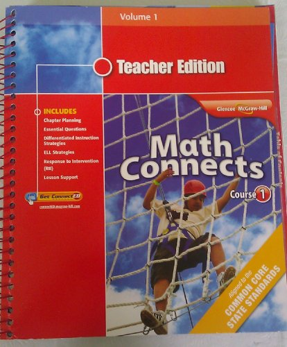 9780078951404: Math Connects Course 1 Teacher Edition Volume 1