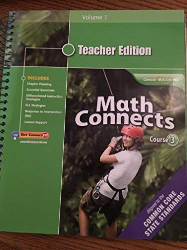 9780078951442: Math Connects, Course 3, Teacher Edition, Volume 1