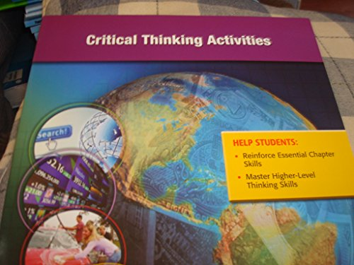 9780078953422: Critical Thinking Activities