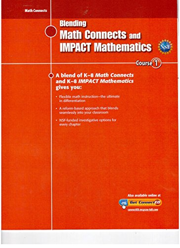 9780078957239: Blending MATH CONNECTS and IMPACT MATHEMATICS-Course 1