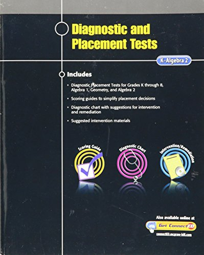 9780078957260: Diagnostic and Placement Tests, K-Algebra 2, (Mathematics Assessment)
