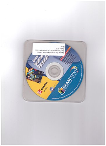 9780078958496: Glencoe Business and Personal Finance ExamView Assessment Suite CD-ROM WIN/MAC