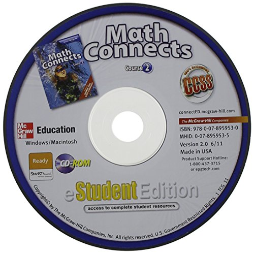 Math Connects, Course 2, eStudentEdition CD-ROM (MATH APPLIC & CONN CRSE) (9780078959530) by McGraw-Hill Education
