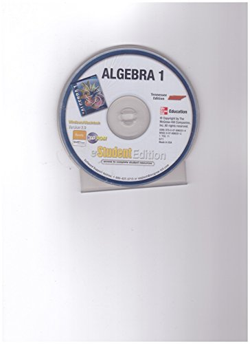 9780078960314: Mcgraw-Hill Algebra 1 Tennessee Edition eStudent Edition Cd-rom Version 2.0