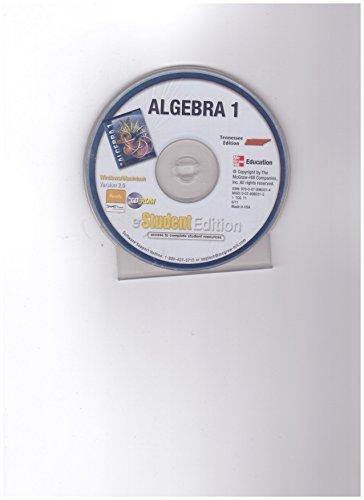 9780078960314: Mcgraw-Hill Algebra 1 Tennessee Edition eStudent Edition Cd-rom Version 2.0
