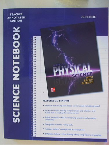 9780078962806: Science Notebook, Teacher Annotated Edition for Glencoe Physical Science Isbn 0078962803 9780078962806