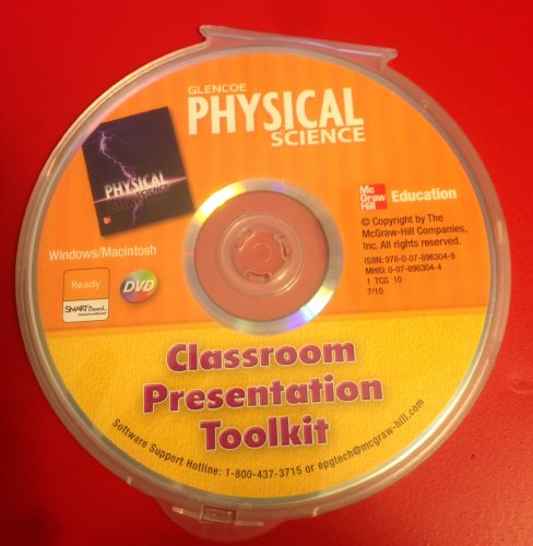 9780078963049: Classroom Presentation Toolkit for Glencoe's Physical Science