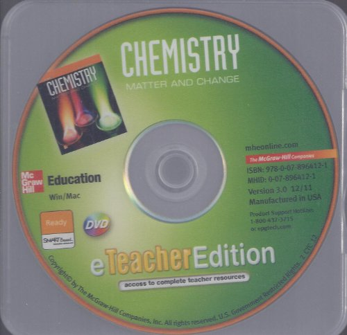 9780078964121: Chemistry Matter and Change eTeacher Edition DVD