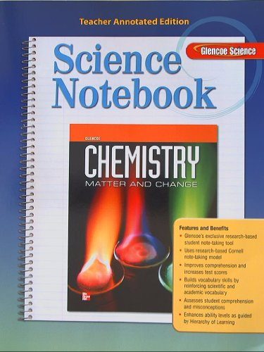9780078964169: Glencoe Chemistry, Matter and Change, Science Notebook, Teacher Annotated Edition