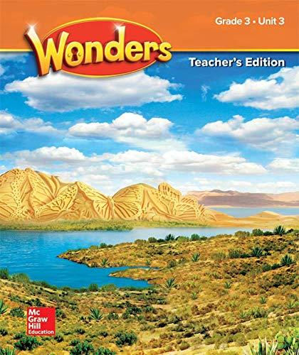 9780079016867: Wonders Teacher's Edition Unit 3 Grade 3 (ELEMENTARY CORE READING)
