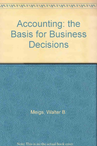9780079093516: Accounting: the Basis for Business Decisions