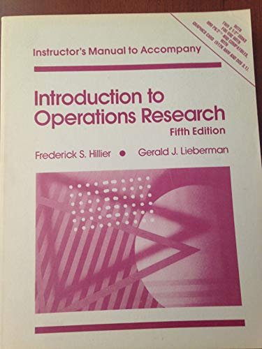 9780079097644: Introduction to Operations Research: Solutions Manual