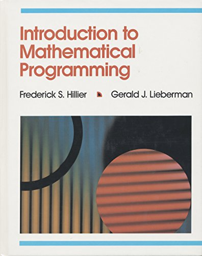 9780079097699: Introduction to Mathematical Programming