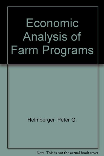 9780079099457: Economic Analysis of Farm Programs/Book and Disk