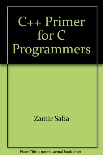 9780079113153: C++ primer for C programmers