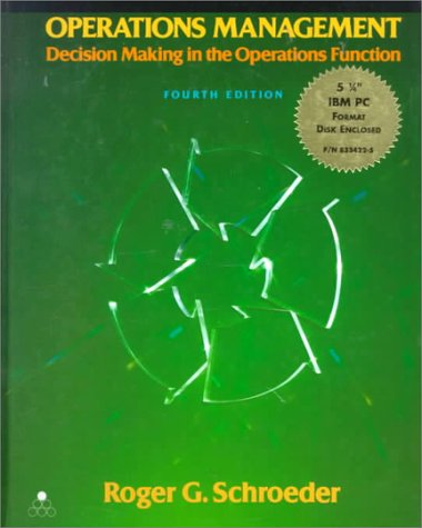 9780079114372: Operations Management: Decision Making in the Operations Function/Book and Disk (MCGRAW HILL SERIES IN MANAGEMENT)