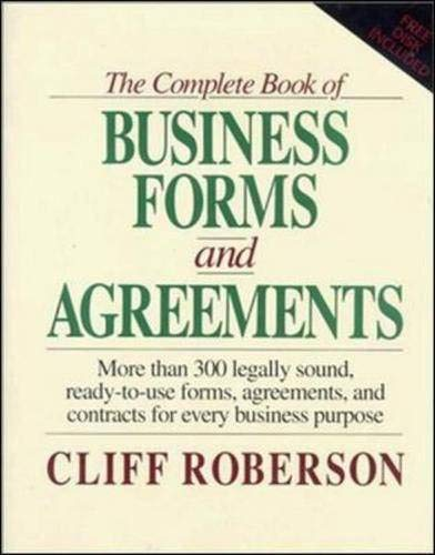 9780079116116: The Complete Book of Business Forms and Agreements, Book and 3.5' Disk Set