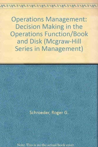 9780079116444: Operations Management: Decision Making in the Operations Function/Book and Disk (Mcgraw-Hill Series in Management)
