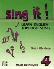 9780079116833: Sing it! Learn English through Song -Level 4 Text/Workbook/Cassette