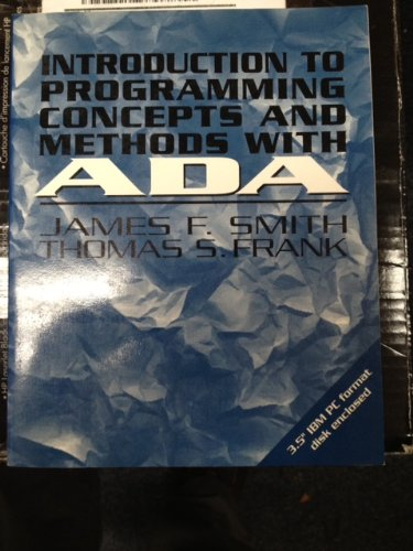 9780079117250: Introduction to Programming Concepts and Methods With Ada/Book and Disk (Mcgraw-Hill Series in Computer Science)