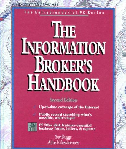 9780079118776: Information Broker's Handbook (Entrepreneurial PC)