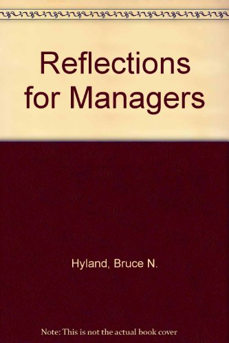9780079121073: Reflections for Managers