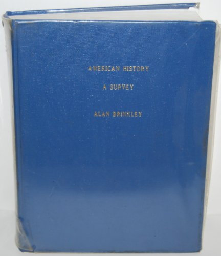 9780079121141: American History : A Survey/With Map Vol I & II
