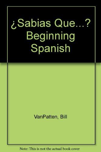 9780079121578: ¿Sabias Que...? Beginning Spanish